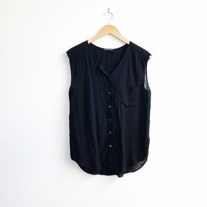 James Perse : Soft Shell Shirt in Black